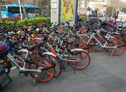 集团公司碑林整治共享单车乱停放 一周暂扣5000辆